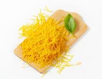 Short egg noodles Royalty Free Stock Images