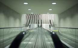 Short empty escalator Royalty Free Stock Image