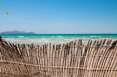 Short of a fence at the beach Royalty Free Stock Photos