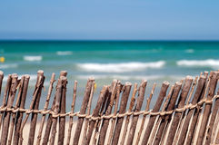Short of a fence at the beach Stock Photos