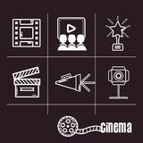 Short film cinematography production studio. Vector illustration Royalty Free Stock Photos