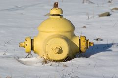 Short Fireplug in Snow Royalty Free Stock Image