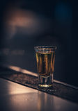 Short. Glass of short, aperitif alcohol drink Royalty Free Stock Photo