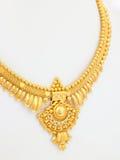 Short gold necklace stock photos