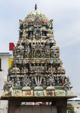 Short Gopuram on shrine in front of Sarangapani temple. Royalty Free Stock Photos