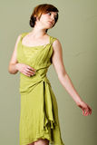 Short hair woman with dress Royalty Free Stock Image