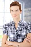 Short hair woman smiling Stock Photo