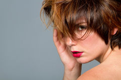 Short haired woman Royalty Free Stock Photos