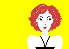 Short haired woman. A beautiful short haired woman royalty free illustration