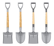 Short Handle Shovel and Spade. Royalty Free Stock Images