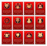 Short horoscope for Chinese zodiac Stock Images