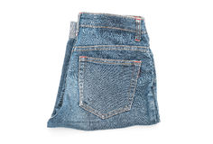Short jean on white Royalty Free Stock Photos