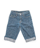 Short jean on white Royalty Free Stock Photography