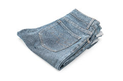 Short jean on white Stock Photography