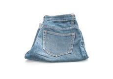 Short jean on white Stock Image