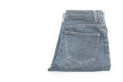 Short jean on white Royalty Free Stock Photo