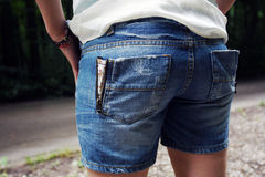 Short jeans Royalty Free Stock Photo