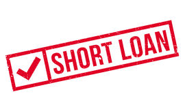 Short Loan rubber stamp Stock Photography