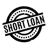 Short Loan rubber stamp Royalty Free Stock Photos