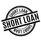 Short Loan rubber stamp Royalty Free Stock Photography