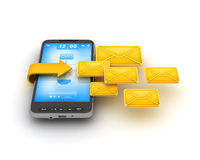 Short Message Service (SMS) - cell phone Stock Photo