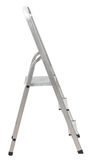 Short metal ladder isolated on white Royalty Free Stock Photo