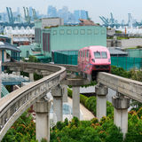 Short monorail train Stock Images