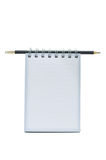 Short notebook with Pencil. This is a Short notebook with Pencil Royalty Free Stock Photos