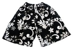 Short pant. Black hawaii short pant - isolated white background Royalty Free Stock Photos