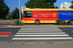 Short pedestrian crossing in Brno, Czech Republic Stock Image