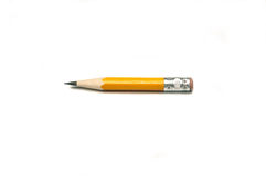 Short pencil. A small, well-used pencil Royalty Free Stock Photos