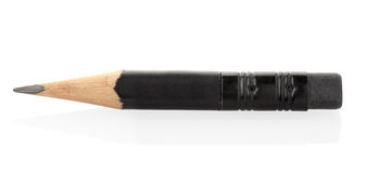 Short pencil. On white, clipping path included Stock Images