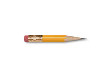 Short Pencil Royalty Free Stock Photography