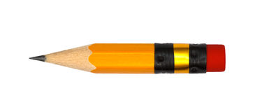 Short pencil isolate stock image