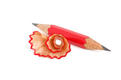 Short pencil sharpened on both sides Royalty Free Stock Image