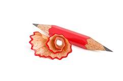 Short pencil sharpened on both sides Royalty Free Stock Image
