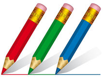 Short pencils Stock Images