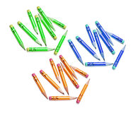 Short Pencils Royalty Free Stock Photo