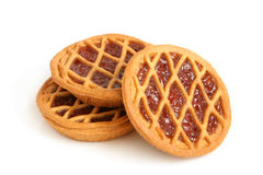Short pies with cherry jam Royalty Free Stock Photography