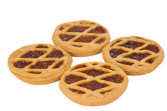 Short pies with jam Royalty Free Stock Photo