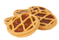 Short pies with jam Stock Photos
