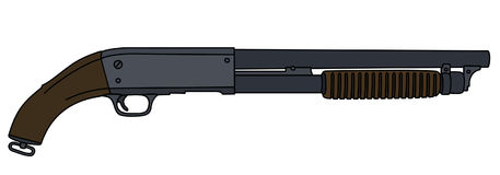 Short pump shotguns Stock Photography