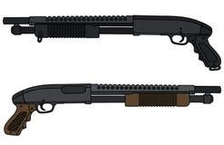 Short pump shotguns Stock Images