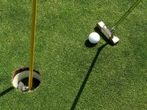 Short Putt Stock Photography