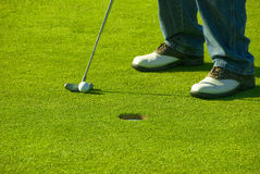 Short Putt Stock Image