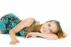 Short relaxation. Young adult pretty girl in relaxation Stock Photography