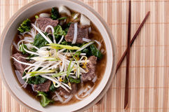 Short rib beef pho, a delicous vietnamese dish Royalty Free Stock Photo