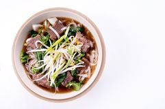 Short rib beef pho, a delicous vietnamese dish Stock Image