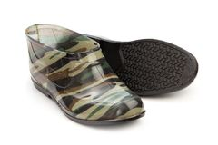 Short rubber boots camouflage pattern Stock Image