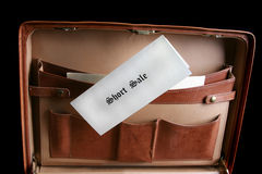 Short sale documents in a briefcase Royalty Free Stock Photos
